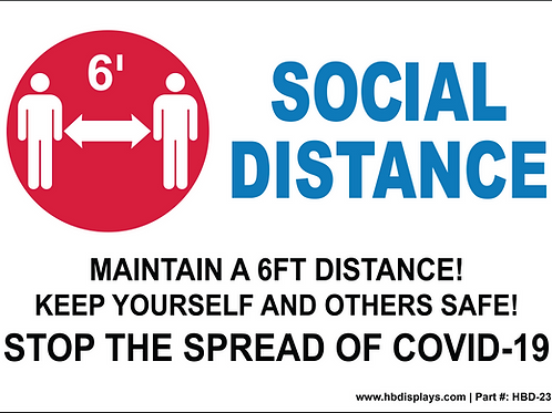 Social Distance Sign