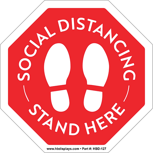 Social Distancing Footprints Graphic