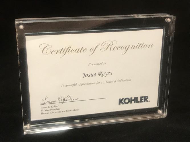 Certificate Desk Plaque