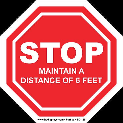 STOP - Social Distance Floor Graphic