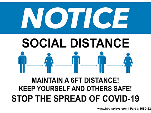 Social Distance Notice