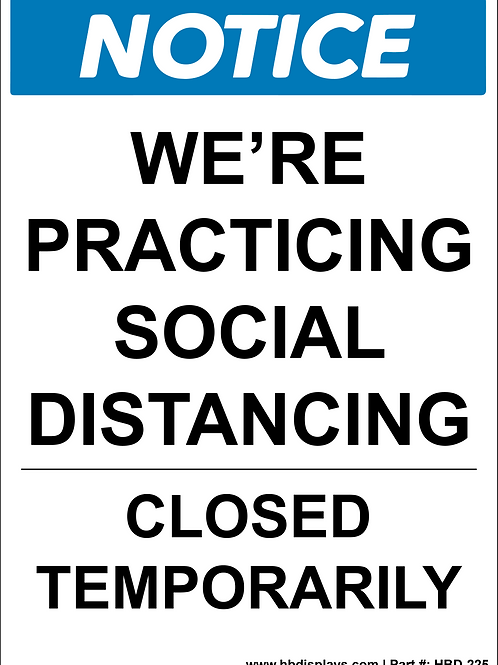 Temporary Closure Sign