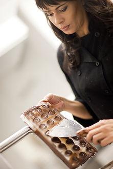 Fabricación de los chocolates