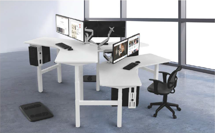 120 Degree Height Adjustable Workstation