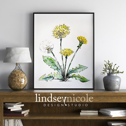 Dandelion Watercolor | PRINT & ORIGINAL