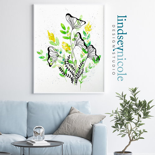 Wildflower Watercolor | PRINT & ORIGINAL