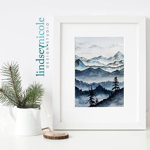 Blue Ridge | Watercolor | ORIGINAL