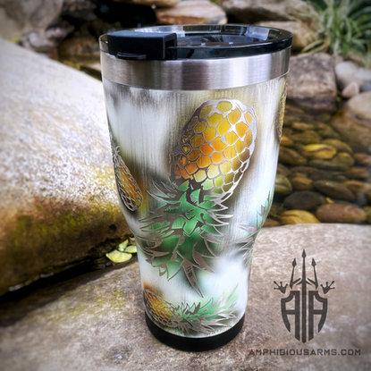 Custom Cerakote Pineapple Tumbler | Amphibious Arms