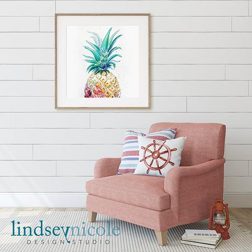 Watercolor Pineapple | PRINT