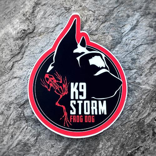 Frog Dog K9 Storm Sticker