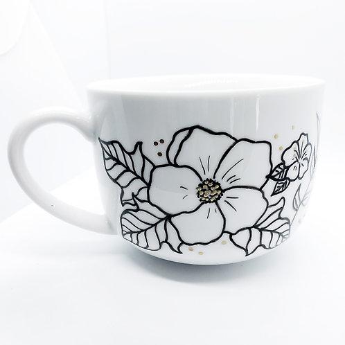 Floral Mug   16oz