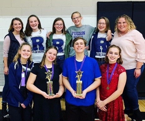 TRHS Color Guard shines at State