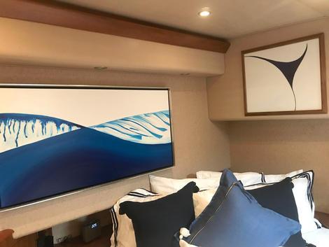 Art to modernize a Yacht stateroom