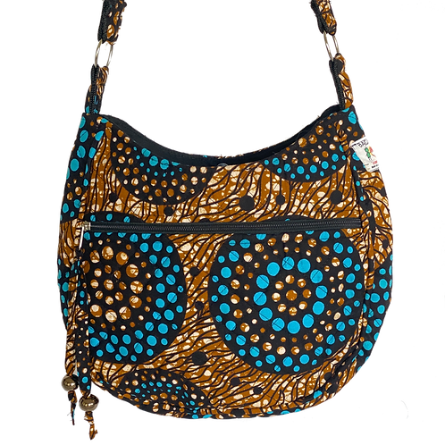 Kitenge 41 MoonShaped Bag
