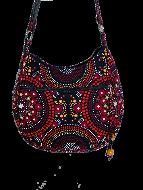 Kitenge 42 MoonShaped Bag