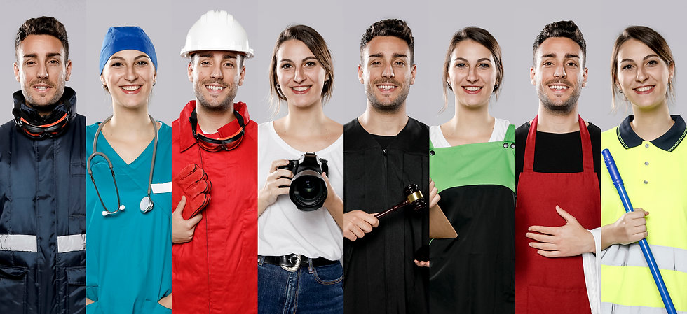Picture of different careers