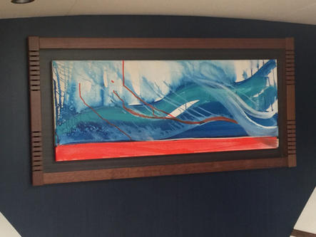 Client requested Art to add an extra dimension and color to the Yacht interior, VIP Stateroom