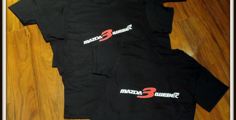 T-Shirt Mazda3Québec.com