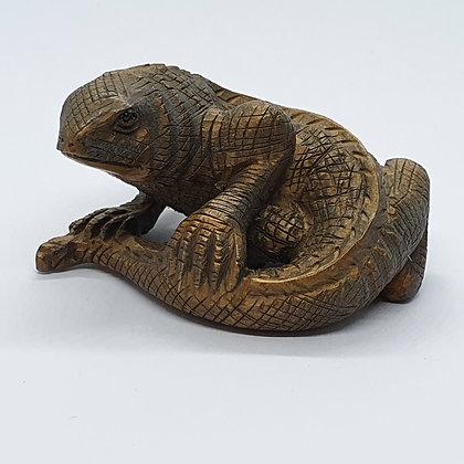 Boxwood netsuke - Gecko