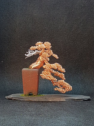 Copper and aluminium cascade style 7.5cm tall