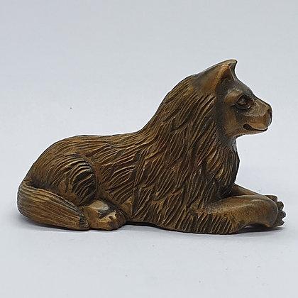 Boxwood netsuke - Dog