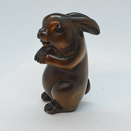 Boxwood netsuke - large rabbit