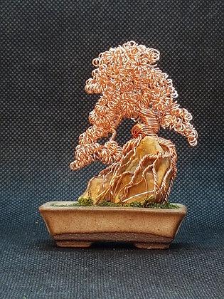 Bare Copper on stone 8cm
