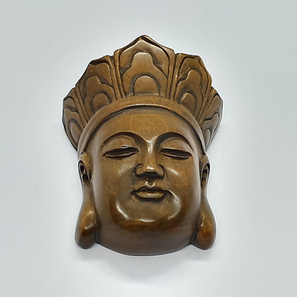 Boxwood netsuke - Face