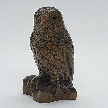 Boxwood netsuke - Owl