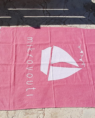 Pink Watermelon Breeze Beach Towel, GOTS Organic cotton.