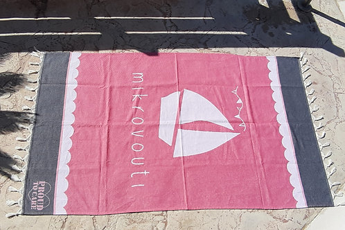 Watermelon pink Breeze mikrovouti beach towel