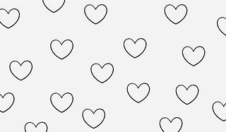 Hearts sketch pattern
