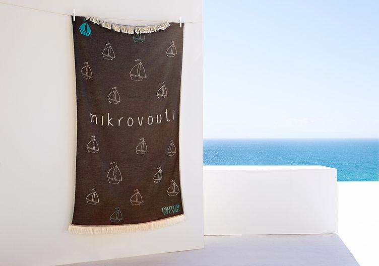 Indigo Regatta mikrovouti sustainable beach towel