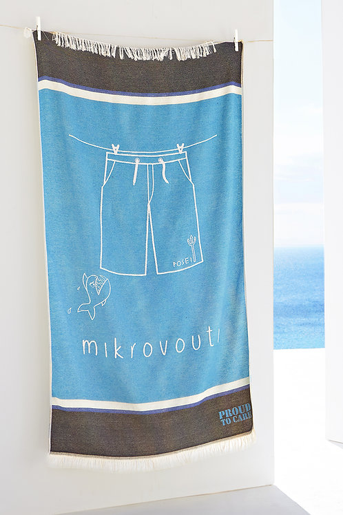 Posei Sky Blue Beach Towel