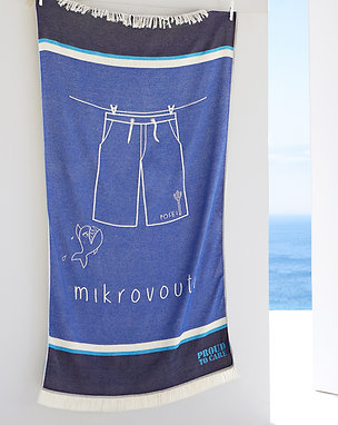 Posei Royal Blue Beach Towel