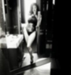 black white lingerie selfie