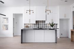 Kitchen With Waterfall Island