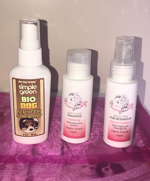 TRAVEL SIZE BATH TIME PRODUCTS. $10 Donation