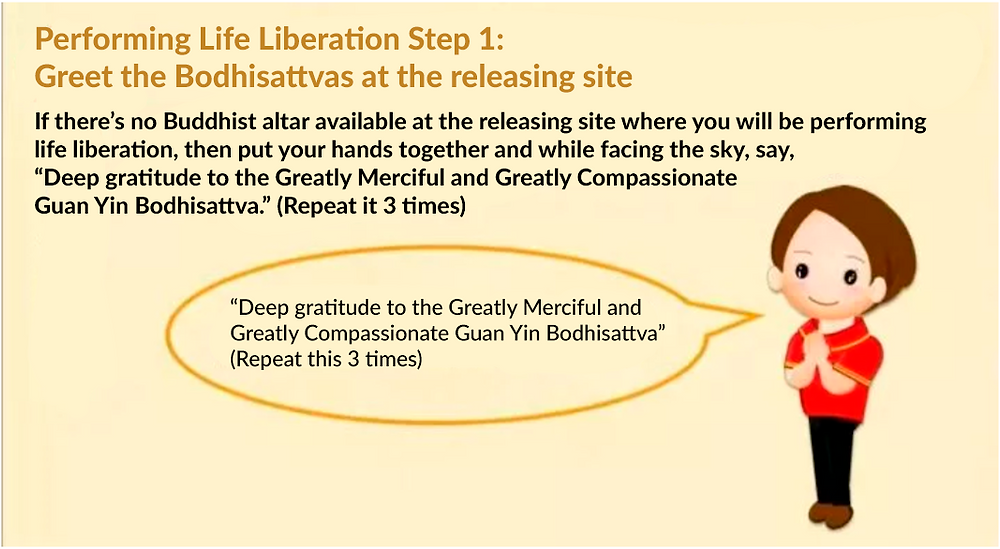 Performing life liberation step 3