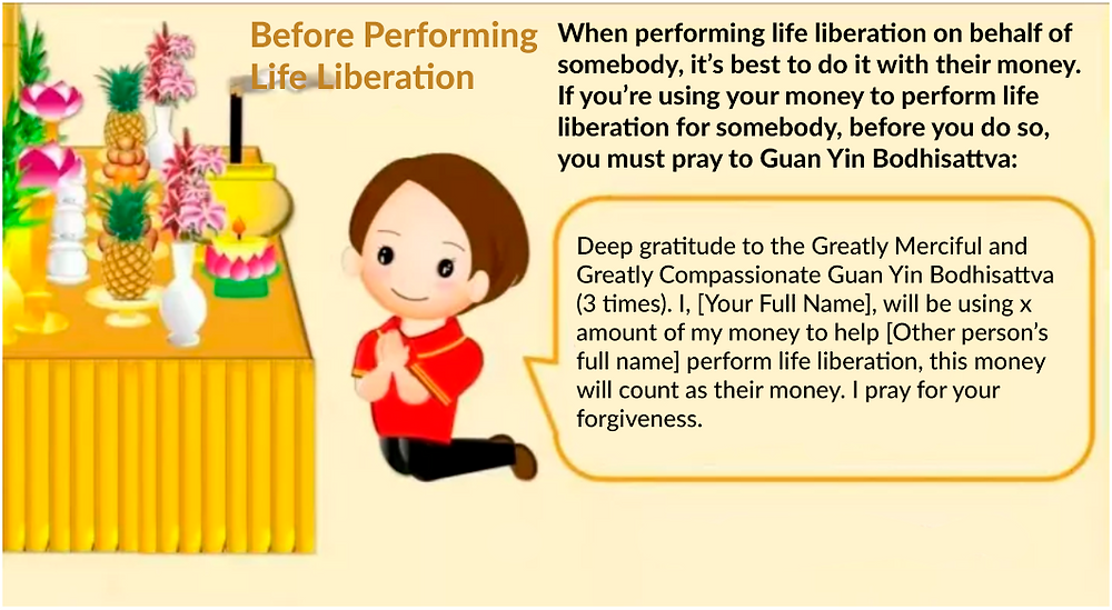 Performing life liberation step 1