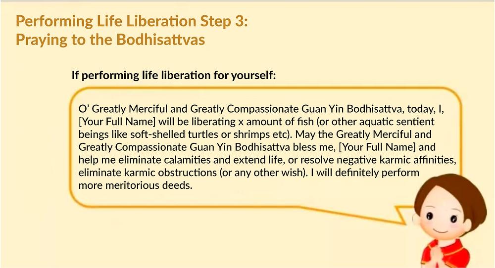Performing life liberation step 5