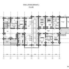 Планировочное решение 1 этажа вариант трасформации