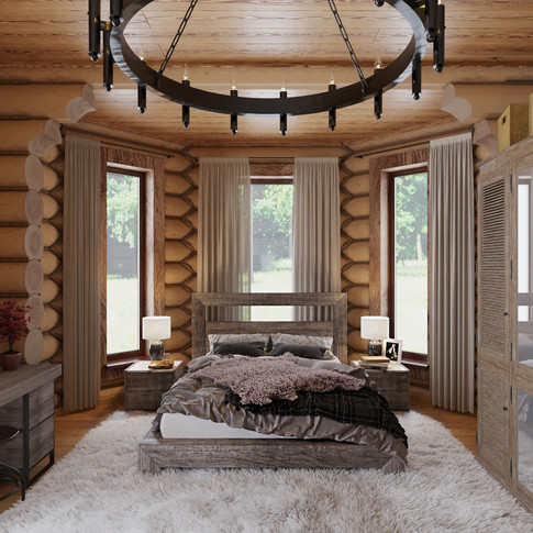 Спальня 1 этаж день