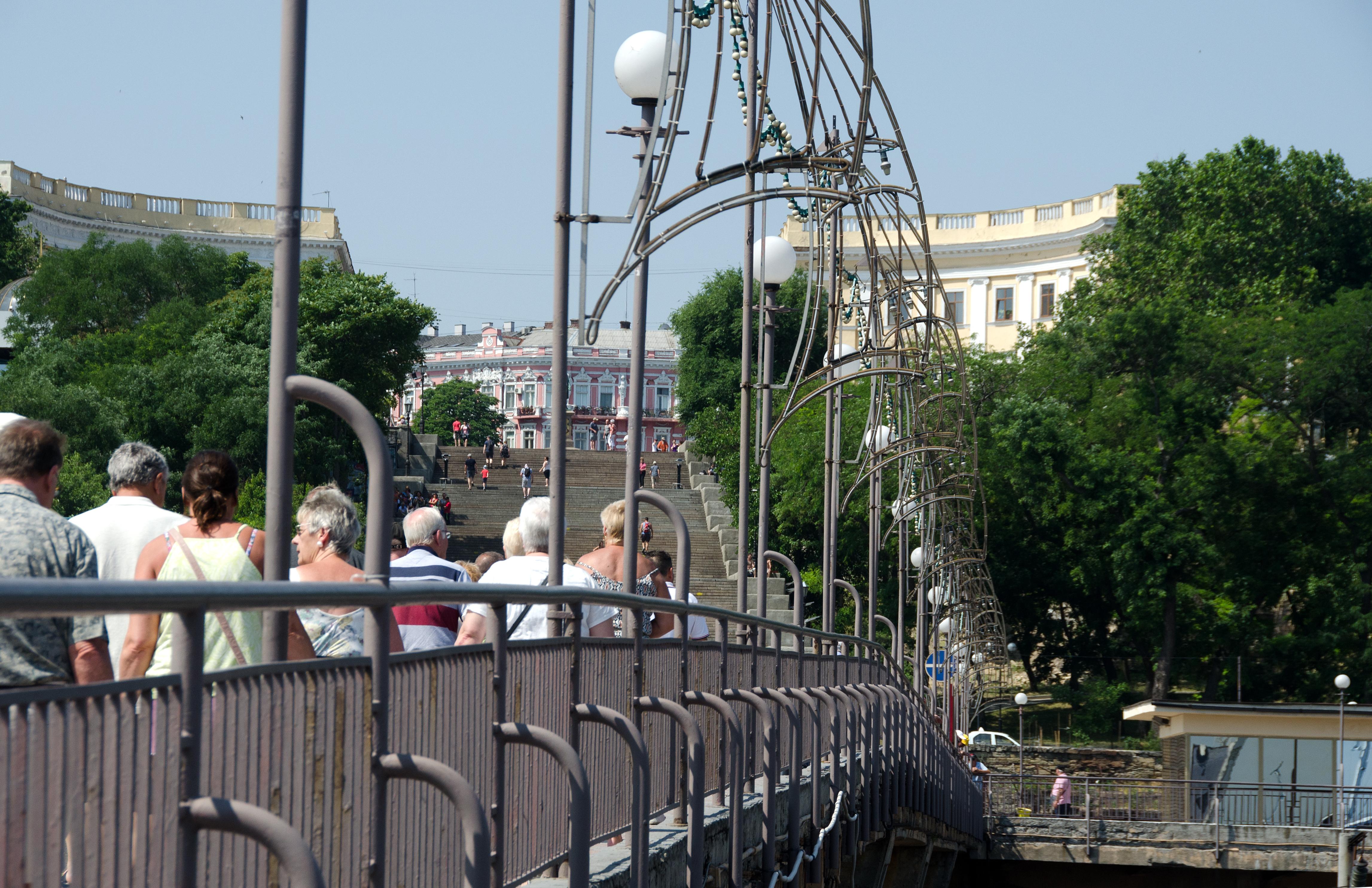 Odessa Bridge to Potemkin Stairs