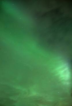 Northern Lights through Cloud