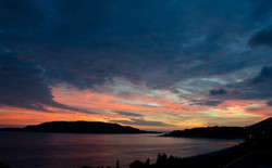 Sunset over Budva