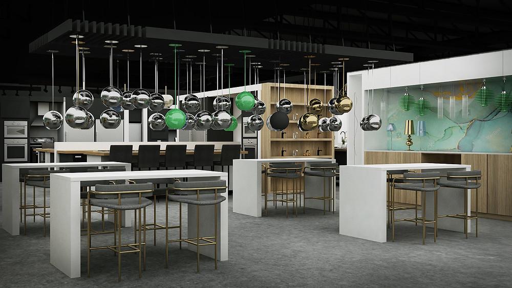 Custom bar height design tables