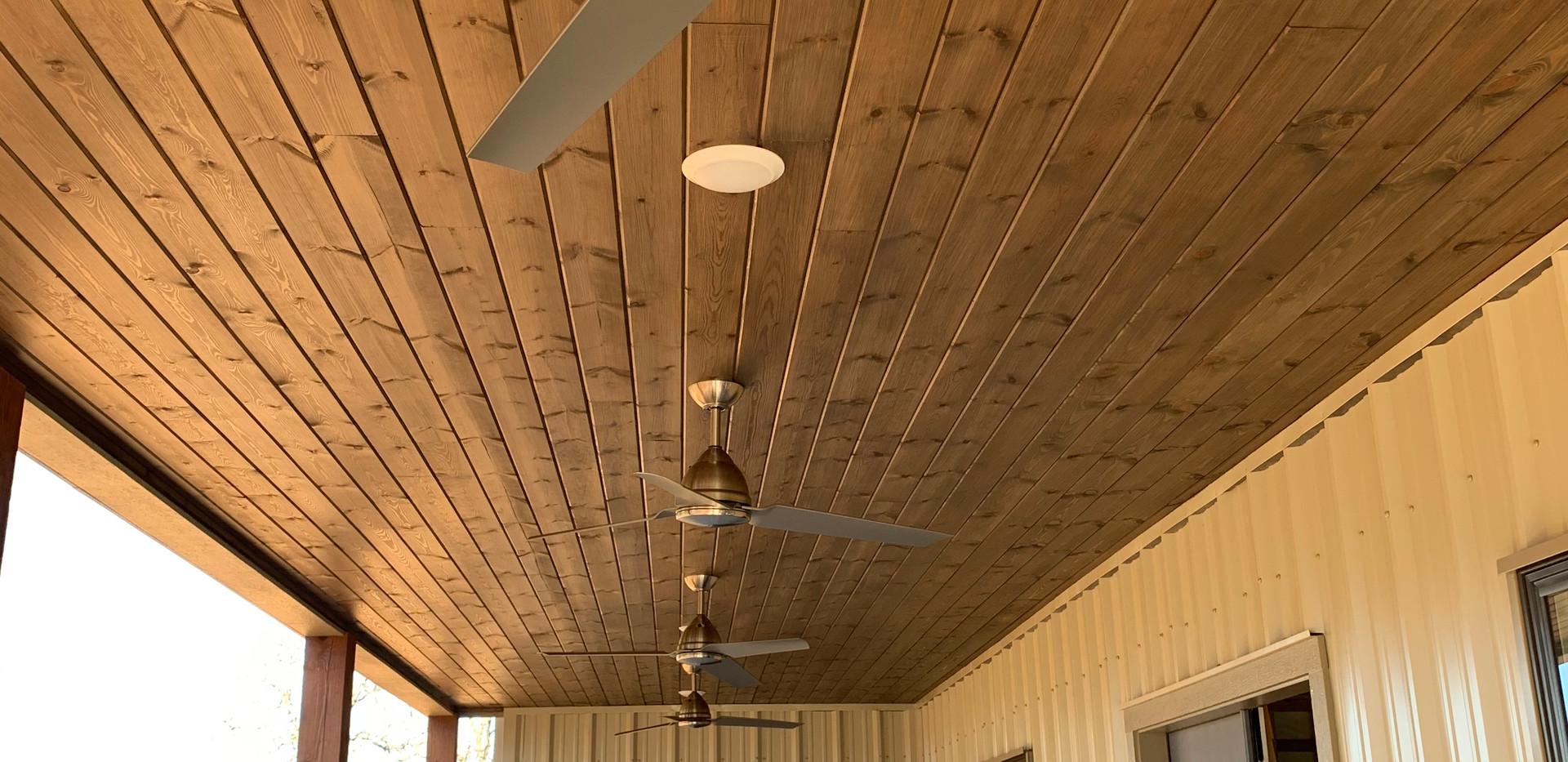 T&G wood ceiling