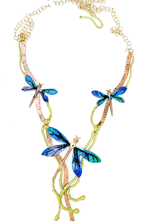 Enameled Dragonfly Necklace