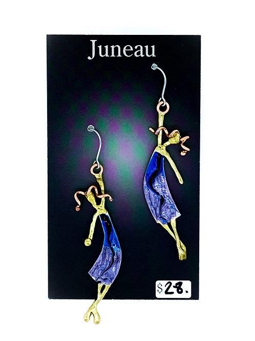 Enameled Lady Earrings